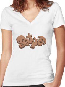 Gatito logo Women's Fitted V-Neck T-Shirt