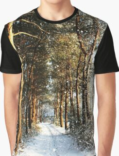Forest Snow Scene Graphic T-Shirt
