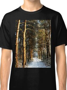 Forest Snow Scene Classic T-Shirt