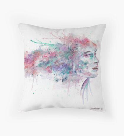 Watercolour girl 2 Throw Pillow