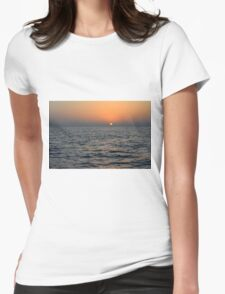 Sunset at the sea. Womens Fitted T-Shirt