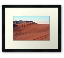 Sand dunes natural desert background. Framed Print