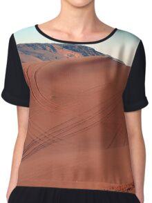 Sand dunes natural desert background. Women's Chiffon Top