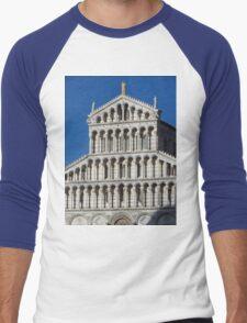 Marble Facade - Pisan Romanesque Style Men's Baseball ¾ T-Shirt