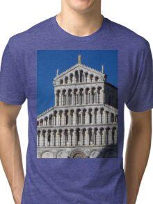 Marble Facade - Pisan Romanesque Style Tri-blend T-Shirt