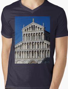 Marble Facade - Pisan Romanesque Style Mens V-Neck T-Shirt
