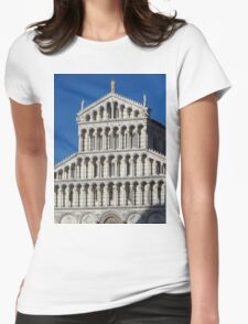 Marble Facade - Pisan Romanesque Style Womens Fitted T-Shirt