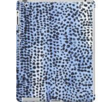 Light Blue and Black Spot Abstract iPad Case/Skin