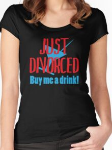Just Divorced Buy Me A Drink Women's Fitted Scoop T-Shirt
