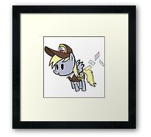 A Derpy Delivery Framed Print