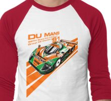 DU MANS Mazda Men's Baseball ¾ T-Shirt