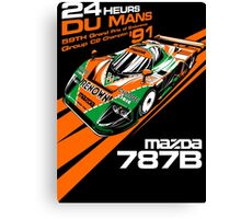 DU MANS Mazda Canvas Print