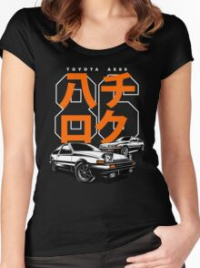 THE AE86  Women's Fitted Scoop T-Shirt
