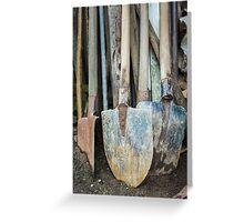 Rusty gardening tools Greeting Card