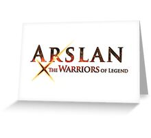 arslan the warriors of legend Greeting Card