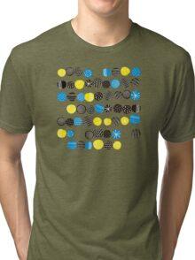 Black on blue Tri-blend T-Shirt