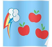 My little Pony - Applejack + Rainbow Dash Cutie Mark Poster
