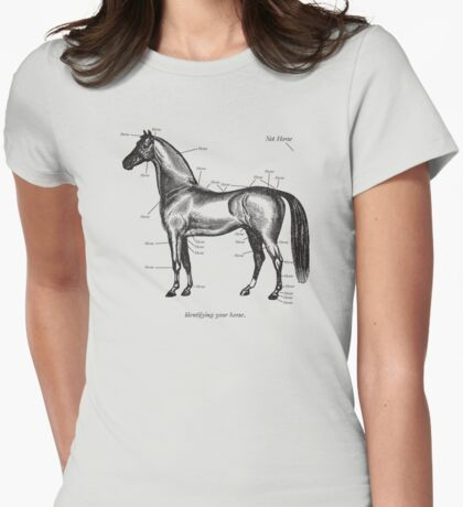 Identifying your horse Womens Fitted T-Shirt