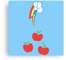 My little Pony - Applejack + Rainbow Dash Cutie Mark V2 Canvas Print