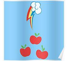 My little Pony - Applejack + Rainbow Dash Cutie Mark V2 Poster