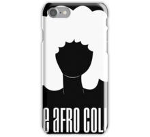 The Afro Collab (black) iPhone Case/Skin