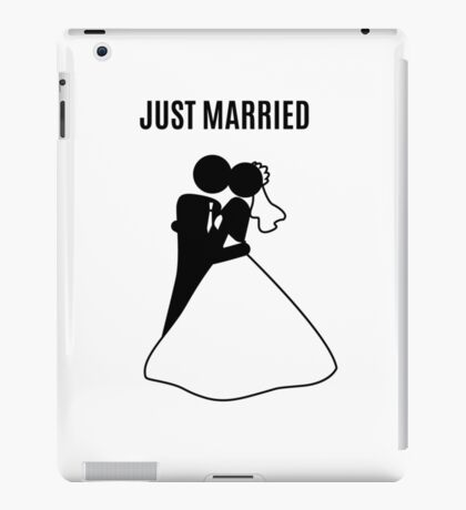 Just  Married Print Stick Figure iPad Case/Skin