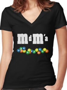 MdMa s Women's Fitted V-Neck T-Shirt