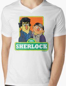 Sherlock Toon Mens V-Neck T-Shirt