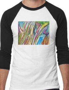 Cattail Landscape Men's Baseball ¾ T-Shirt