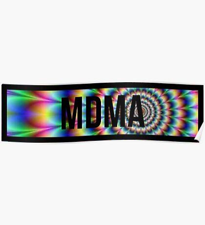 MDMA tie dye Poster