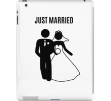 Just  Married Print Stick Figure iPad Case/Skin