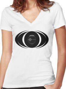 Death Star  Women's Fitted V-Neck T-Shirt
