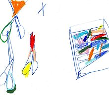 scissor and crayons by Shylie Edwards