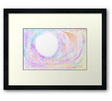 Universal Pastel Colours Framed Print