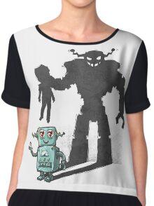 cute robot Chiffon Top