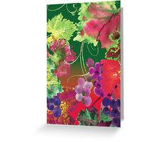 vines and grapes Greeting Card