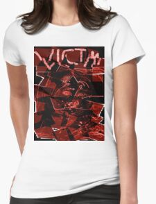 Victim Movie Design Womens Fitted T-Shirt