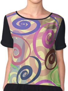 seamless pattern with colored ribbons Chiffon Top
