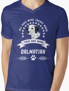 God made Dalmatian Mens V-Neck T-Shirt