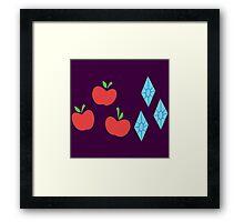My little Pony - Rarity + Applejack Cutie Mark Framed Print