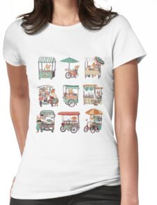 Food vans of Thailand Womens Fitted T-Shirt
