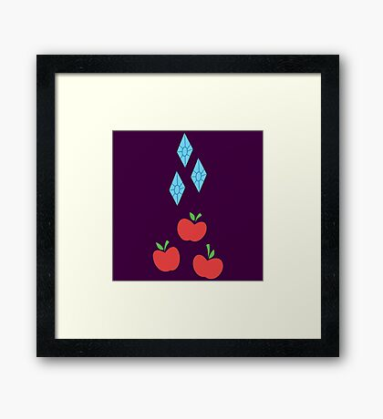 My little Pony - Rarity + Applejack Cutie Mark V2 Framed Print