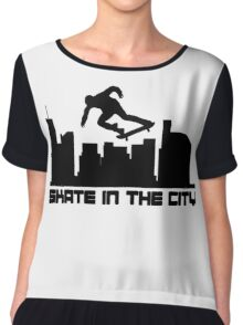 Skate In The City Chiffon Top