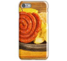 sausage with potatoes iPhone Case/Skin