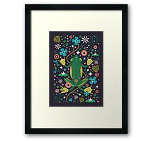 Botanical Frog  Framed Print