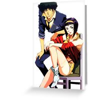Spike Spiegel and Faye Valentine Greeting Card
