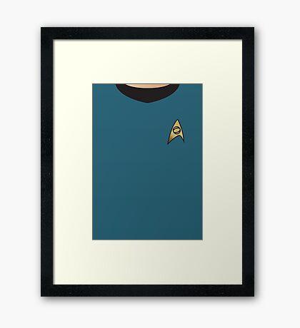 "Screen Uniforms - Star Trek - Lieutenant Commander Dr. Leonard ""Bones"" McCoy Framed Print"