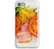 carrot salad with bacon and tomatoes iPhone Case/Skin