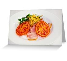 carrot salad with bacon and tomatoes Greeting Card