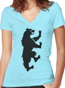 MORMONT HOUSE  2 - Game Of Thrones Women's Fitted V-Neck T-Shirt
